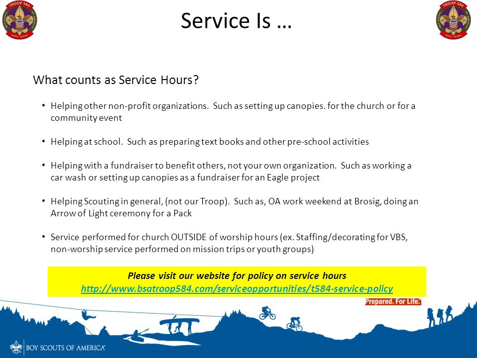 Service Is … What counts as Service Hours