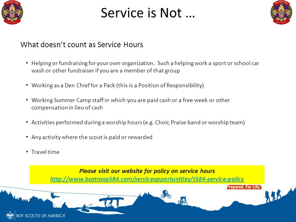 Service is Not … What doesn't count as Service Hours