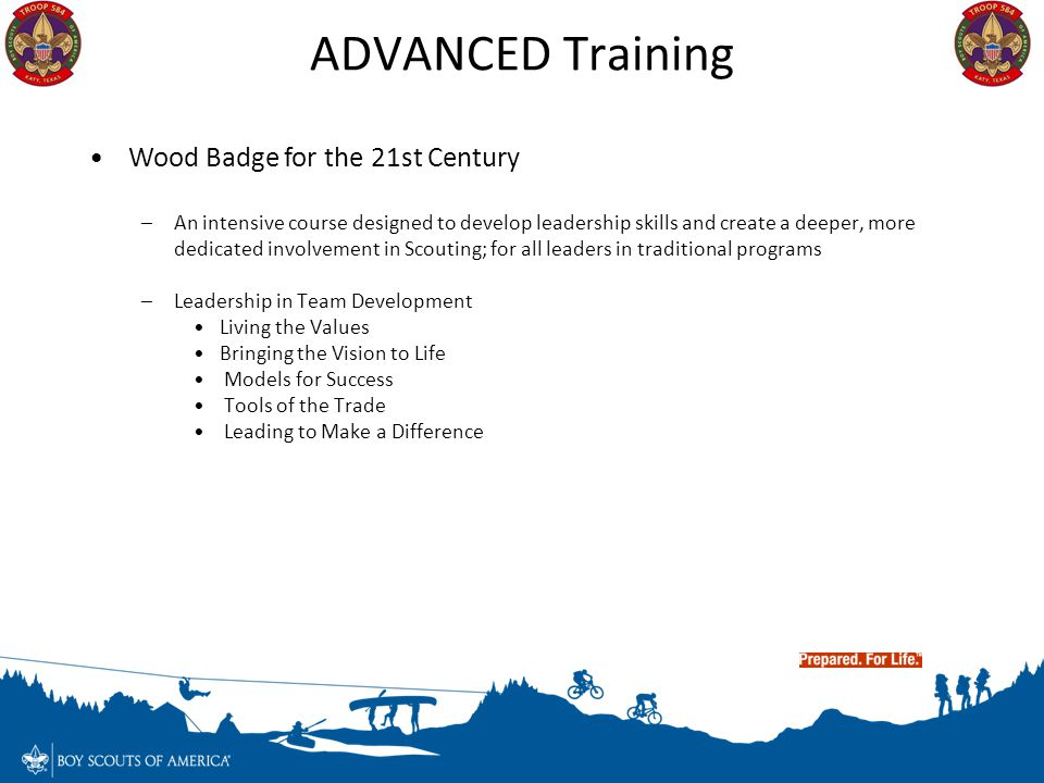 ADVANCED Training Wood Badge for the 21st Century