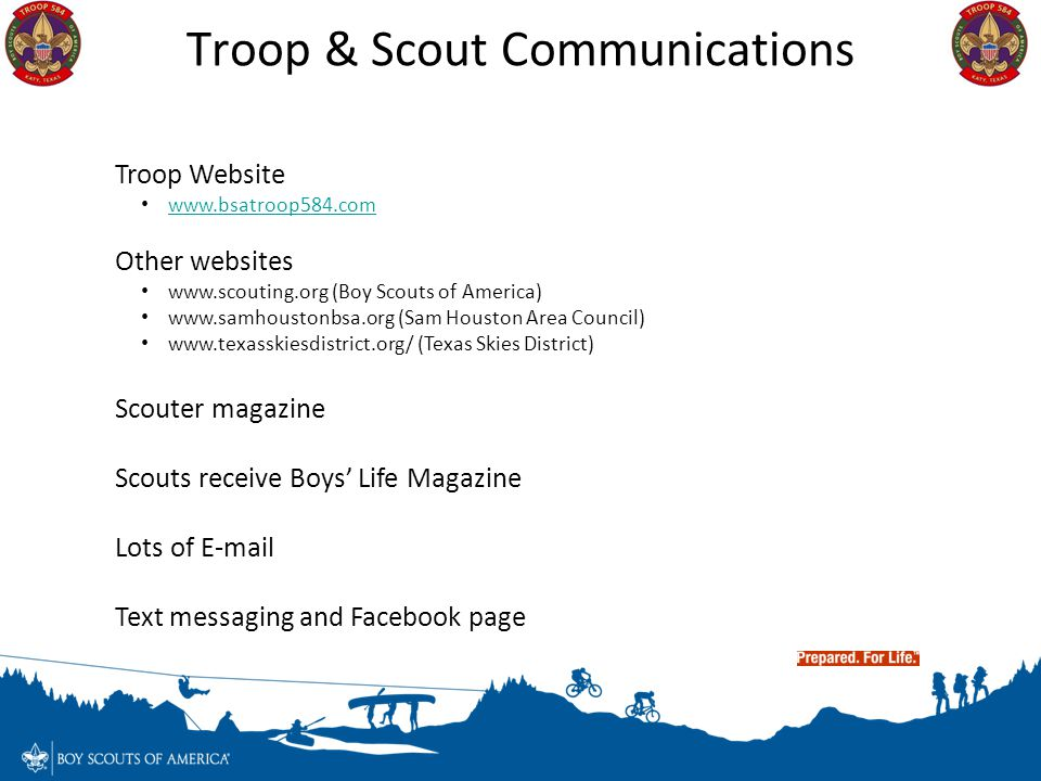 Troop & Scout Communications