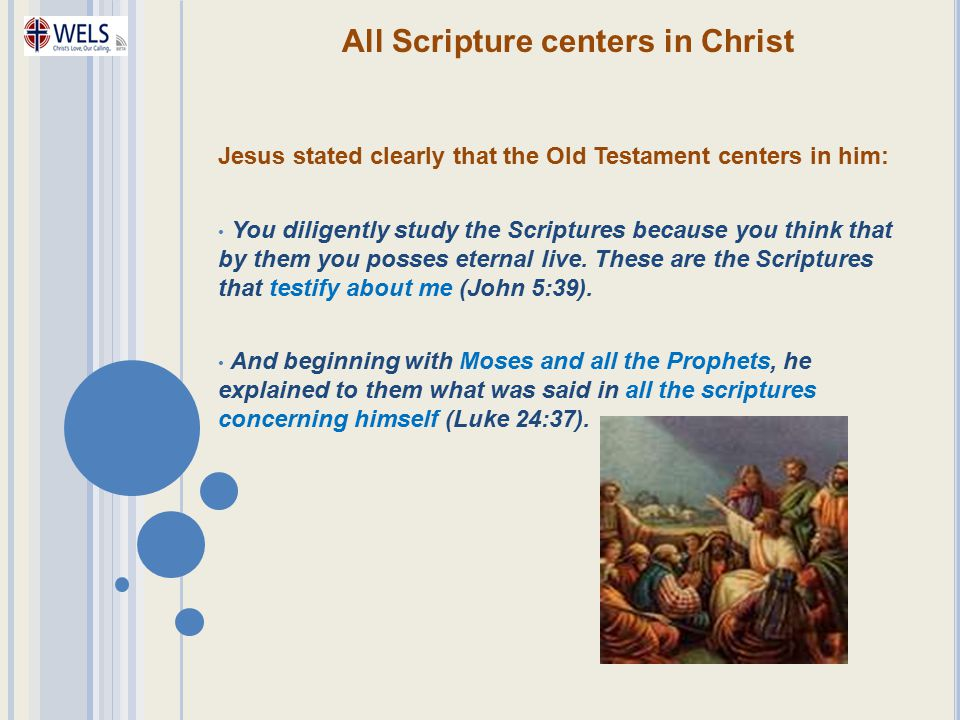 All Scripture centers in Christ