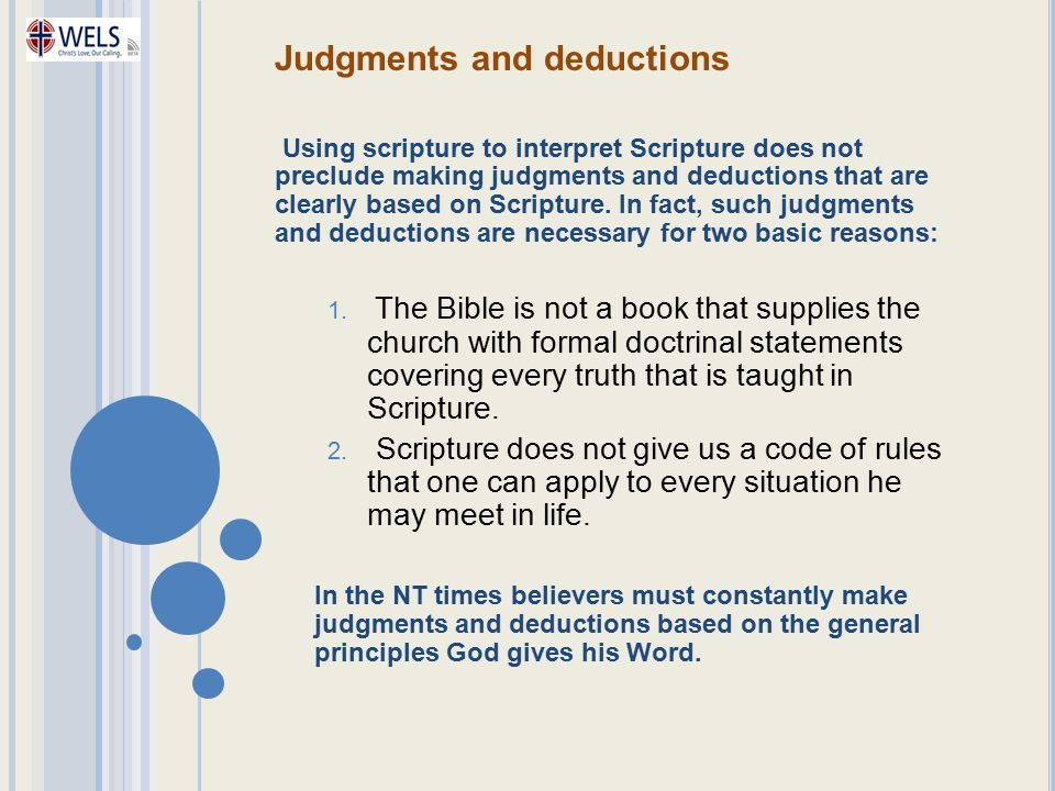 Judgments and deductions