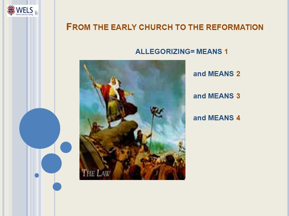 From the early church to the reformation