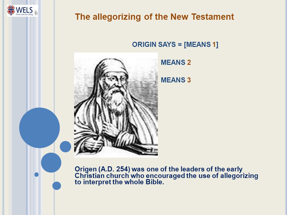 The allegorizing of the New Testament