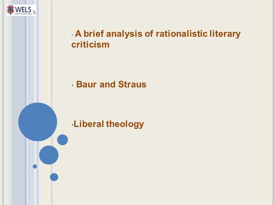 Baur and Straus Liberal theology