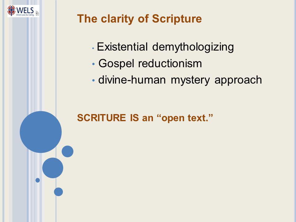 The clarity of Scripture