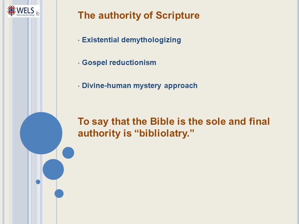 The authority of Scripture