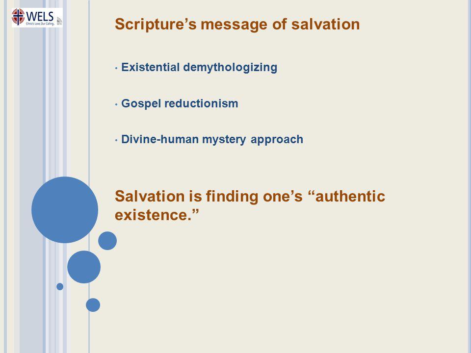 Scripture's message of salvation