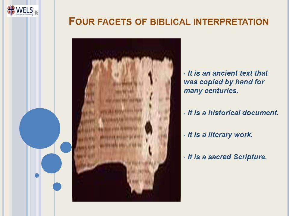 Four facets of biblical interpretation