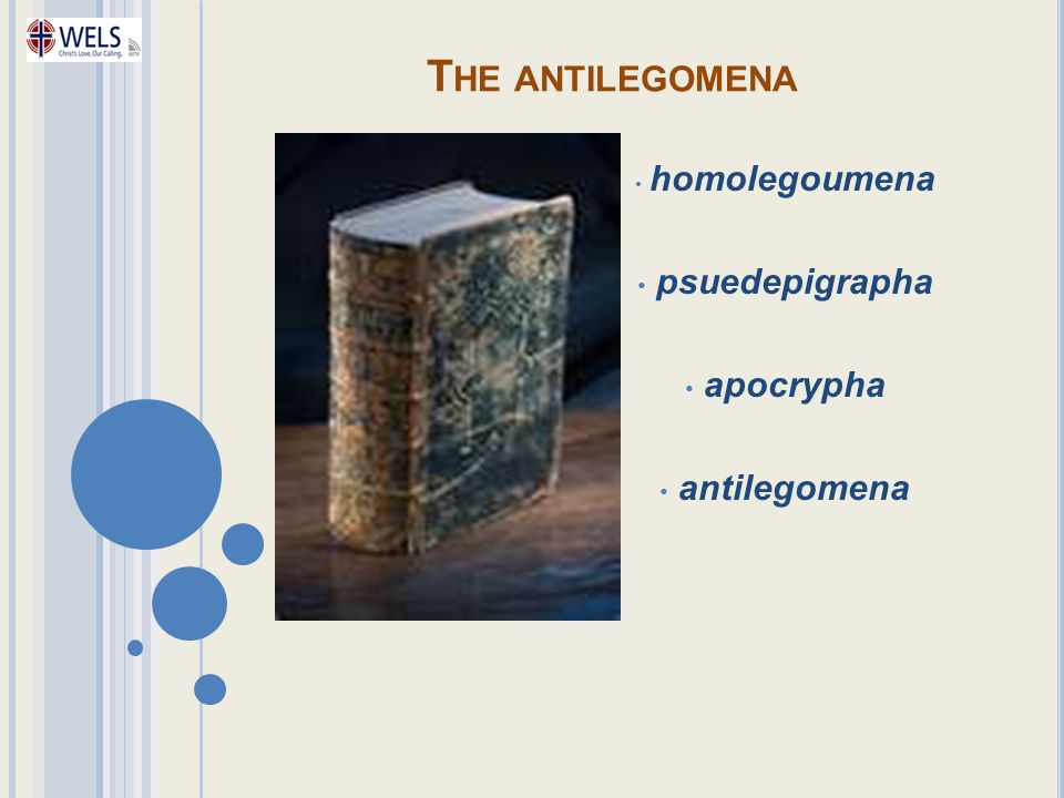 homolegoumena psuedepigrapha apocrypha antilegomena
