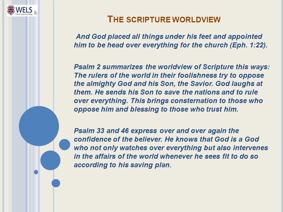 The scripture worldview