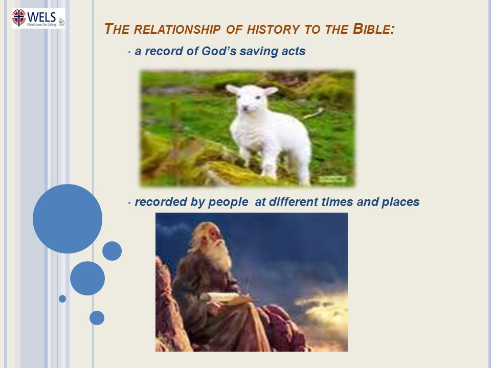 The relationship of history to the Bible: