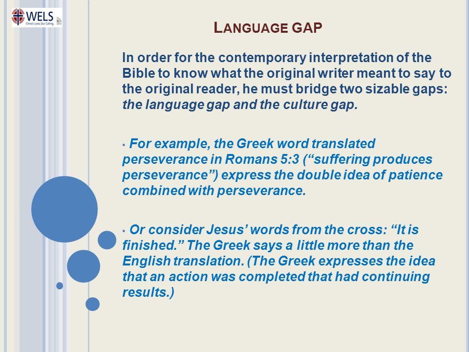 Language gap