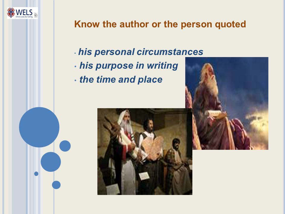 Know the author or the person quoted