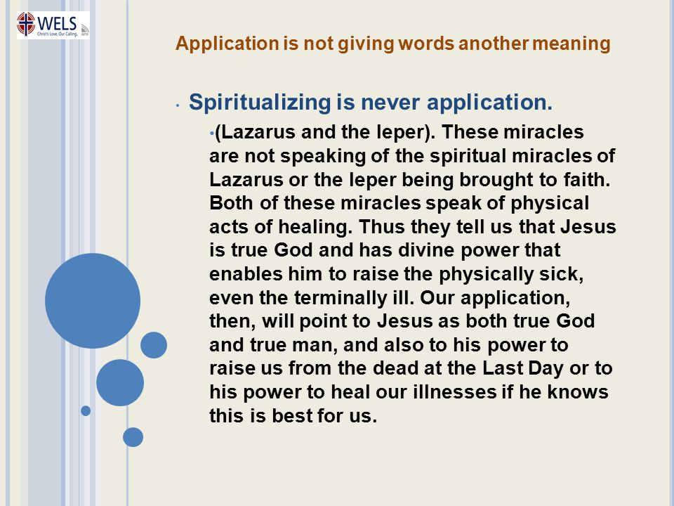 Application is not giving words another meaning