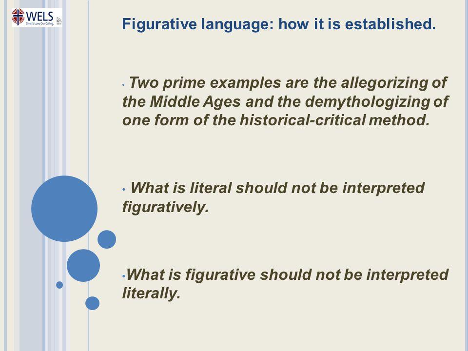 Figurative language: how it is established.