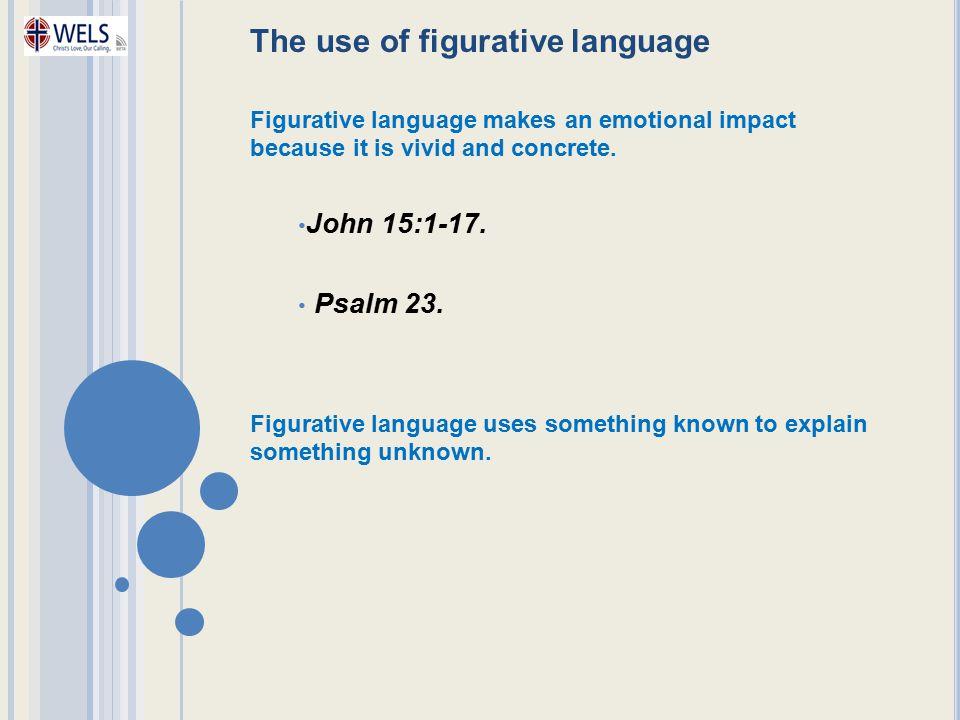 The use of figurative language