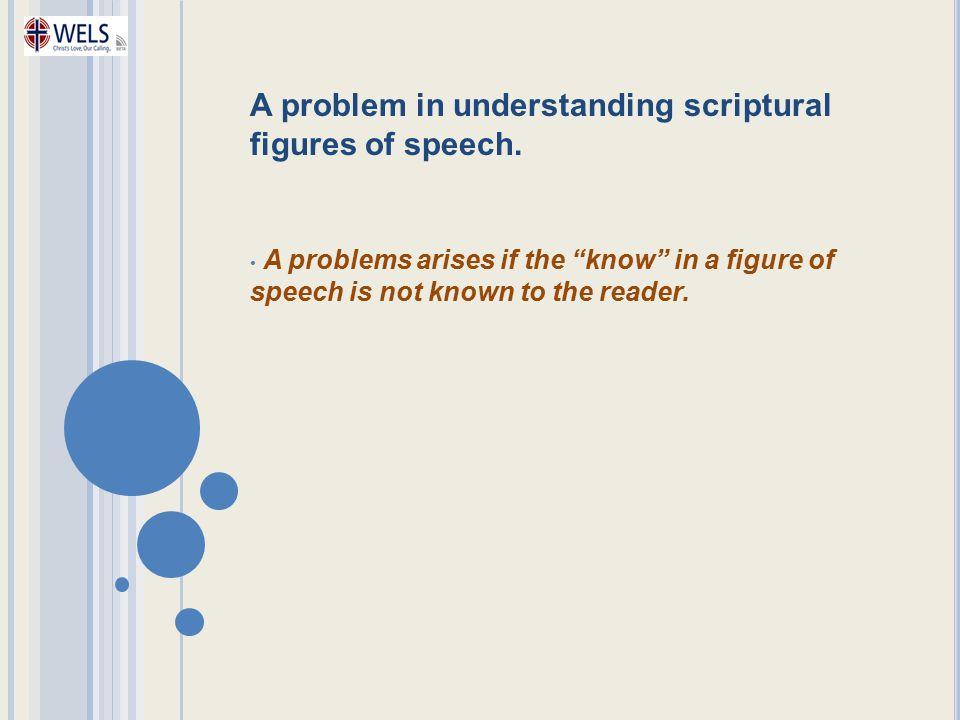 A problem in understanding scriptural figures of speech.