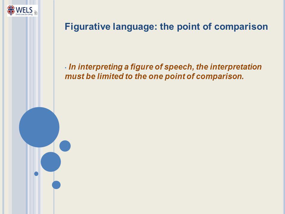 Figurative language: the point of comparison