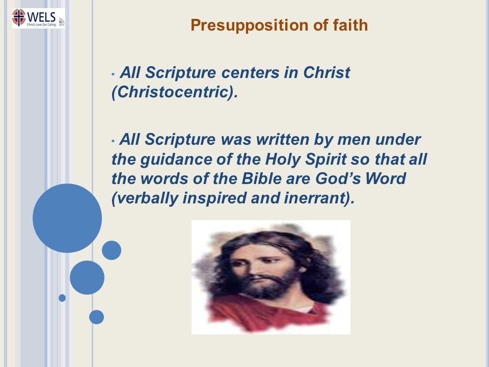 Presupposition of faith