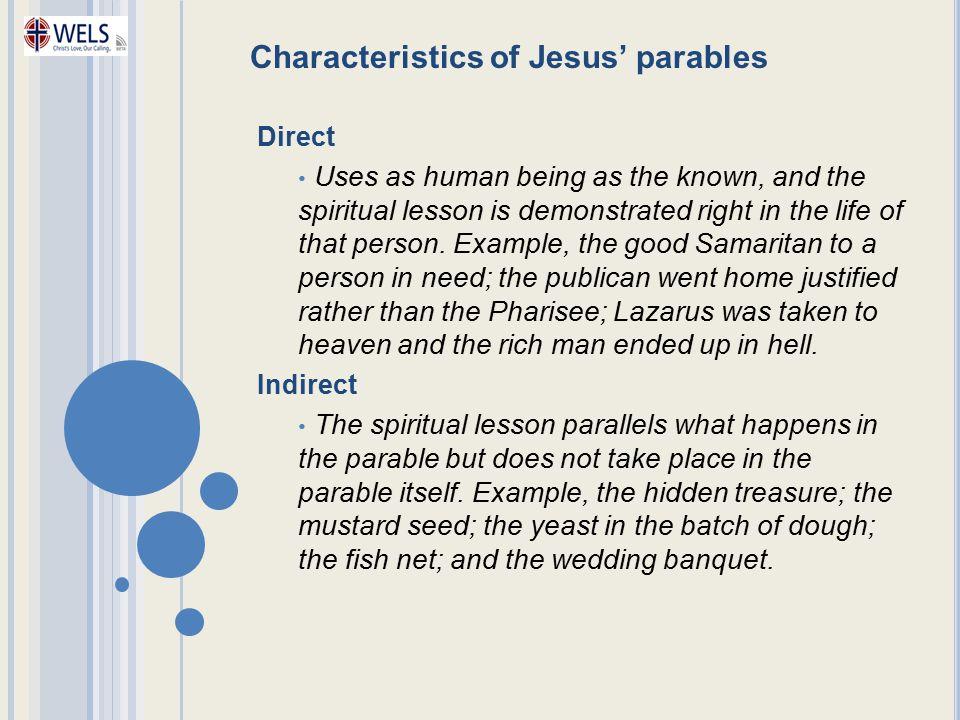 Characteristics of Jesus' parables