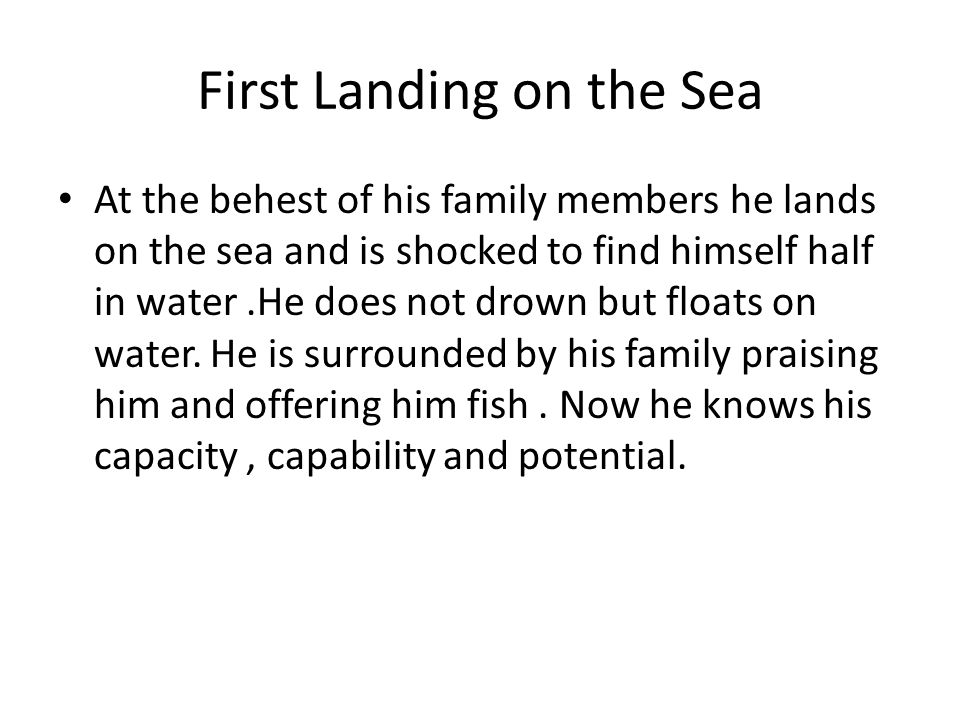 First Landing on the Sea