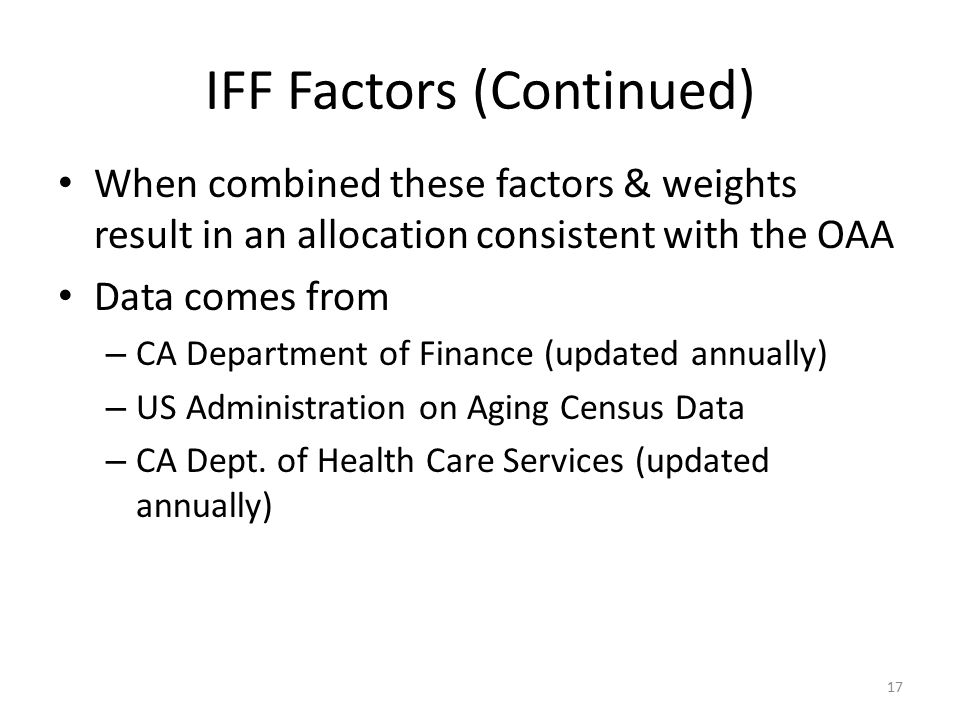 IFF Factors (Continued)