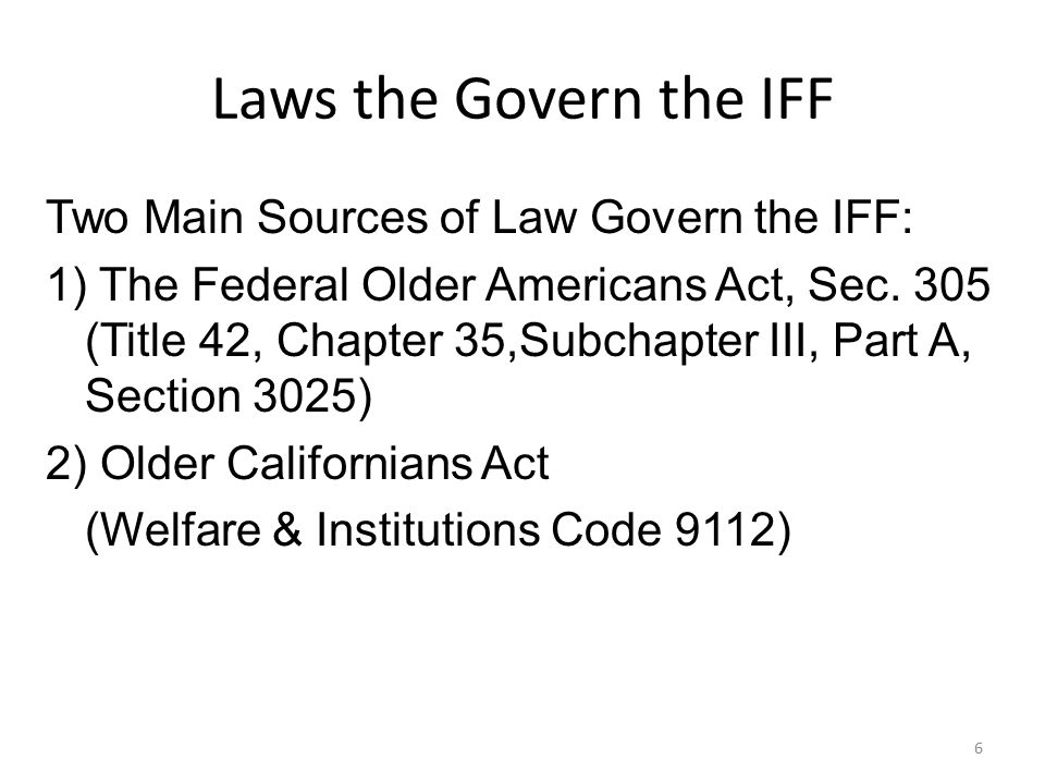 Laws the Govern the IFF