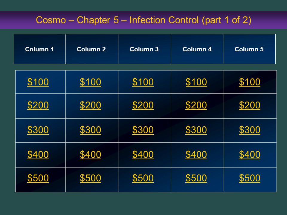 Cosmo – Chapter 5 – Infection Control (part 1 of 2)