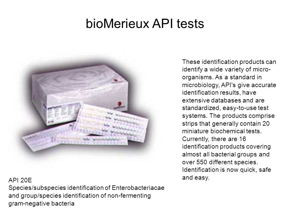 bioMerieux API tests