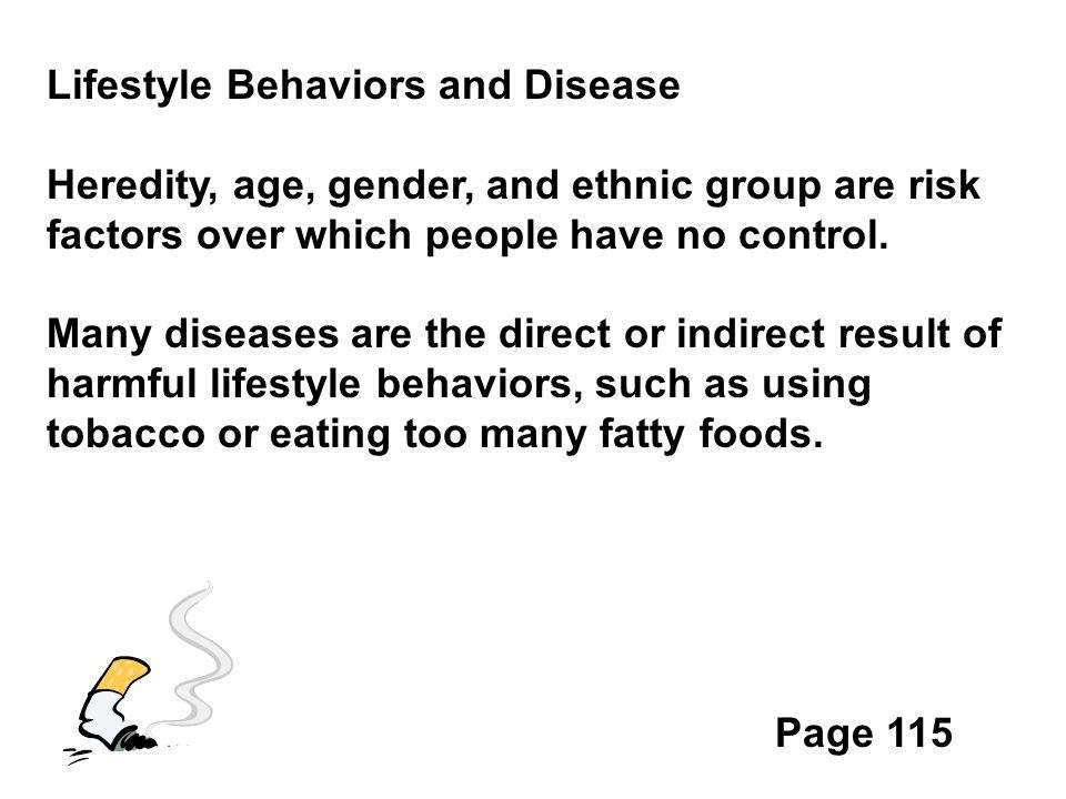 Lifestyle Behaviors and Disease