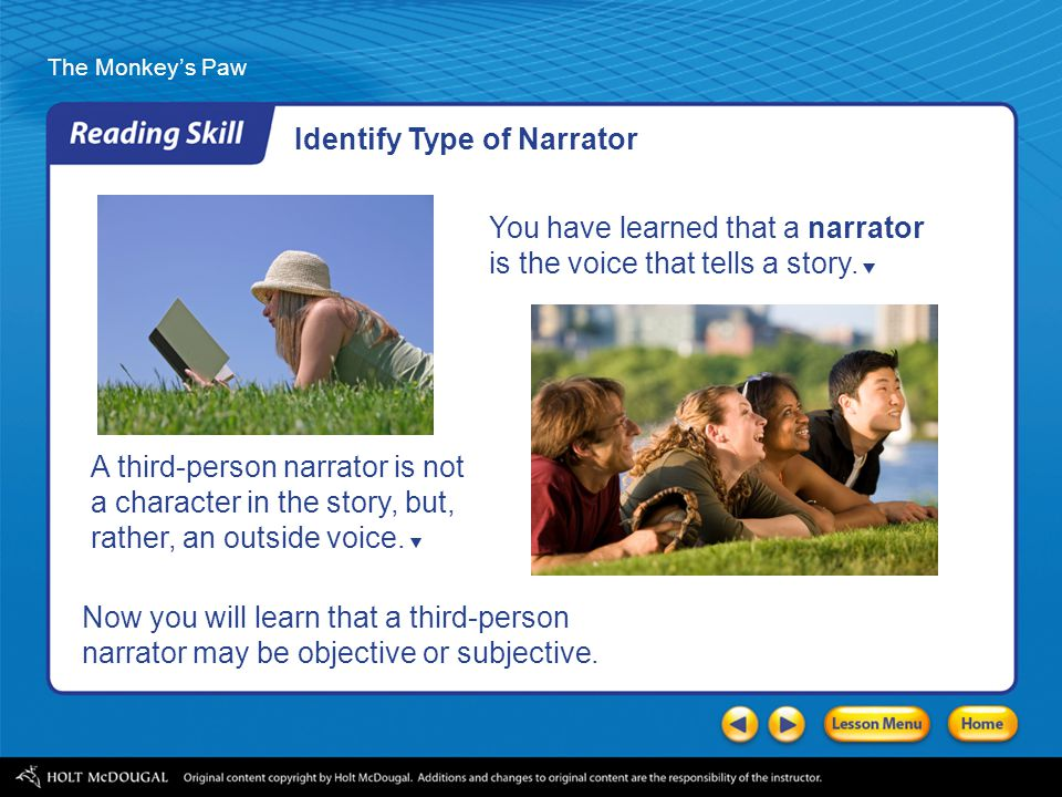 Identify Type of Narrator