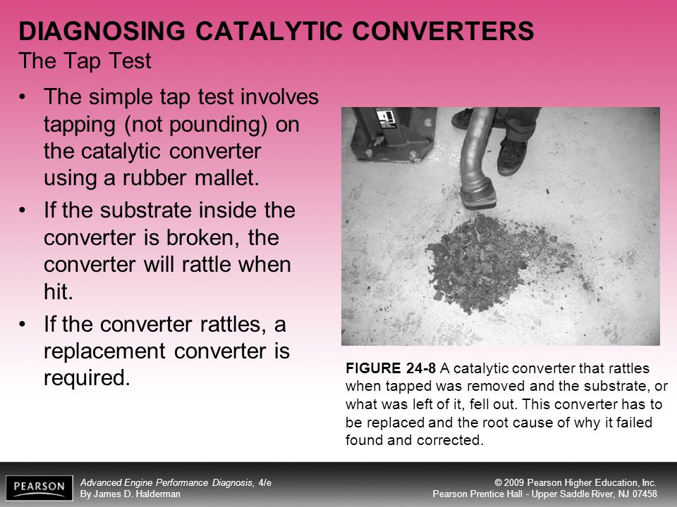DIAGNOSING CATALYTIC CONVERTERS The Tap Test