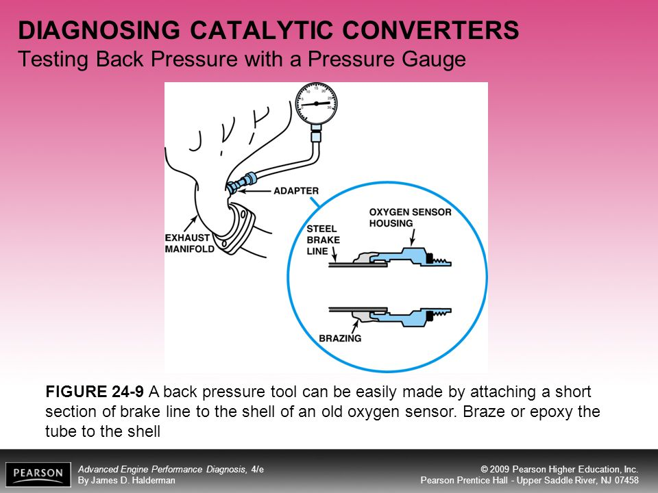 DIAGNOSING CATALYTIC CONVERTERS Testing Back Pressure with a Pressure Gauge