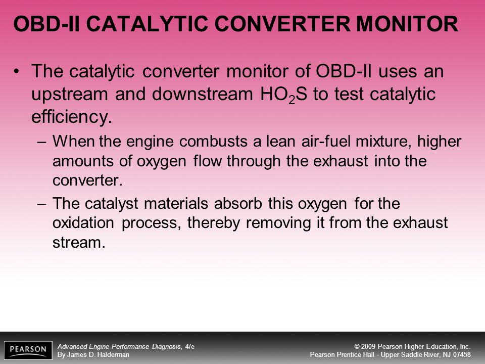 OBD-II CATALYTIC CONVERTER MONITOR
