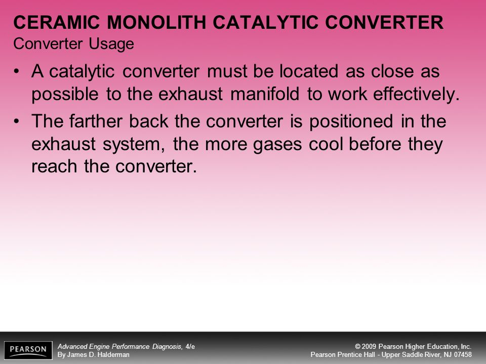 CERAMIC MONOLITH CATALYTIC CONVERTER Converter Usage