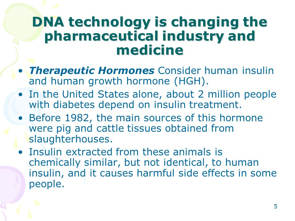 DNA technology is changing the pharmaceutical industry and medicine
