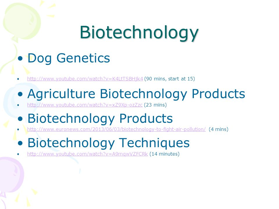 Biotechnology Dog Genetics Agriculture Biotechnology Products