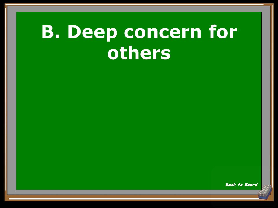 B. Deep concern for others