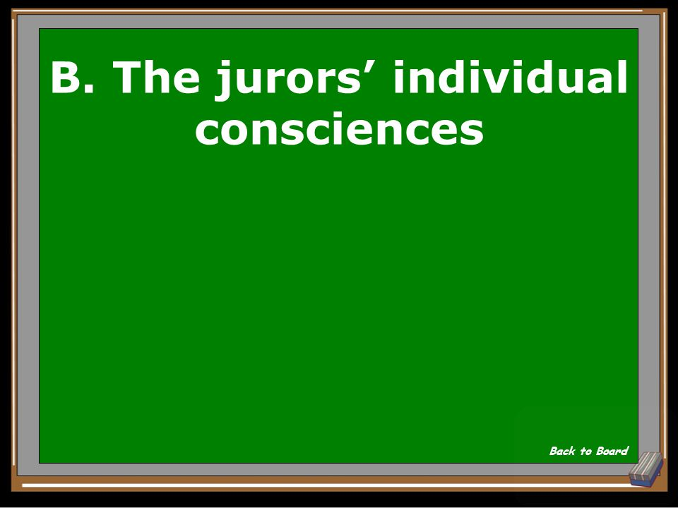 B. The jurors' individual consciences
