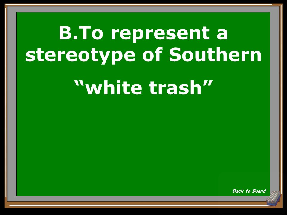 B.To represent a stereotype of Southern