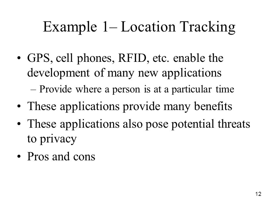 Example 1– Location Tracking