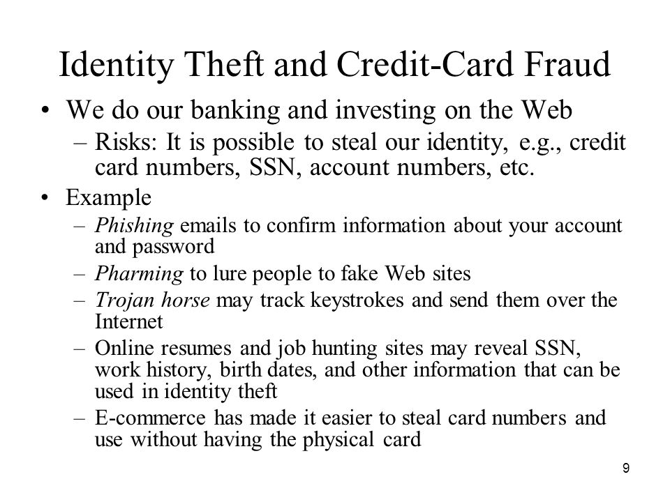 Identity Theft and Credit-Card Fraud