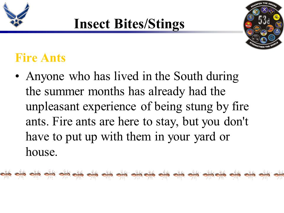 Insect Bites/Stings Fire Ants