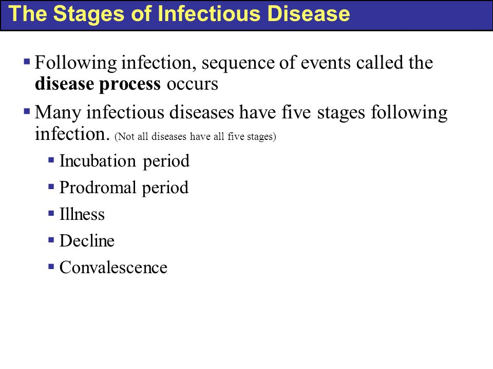 The Stages of Infectious Disease