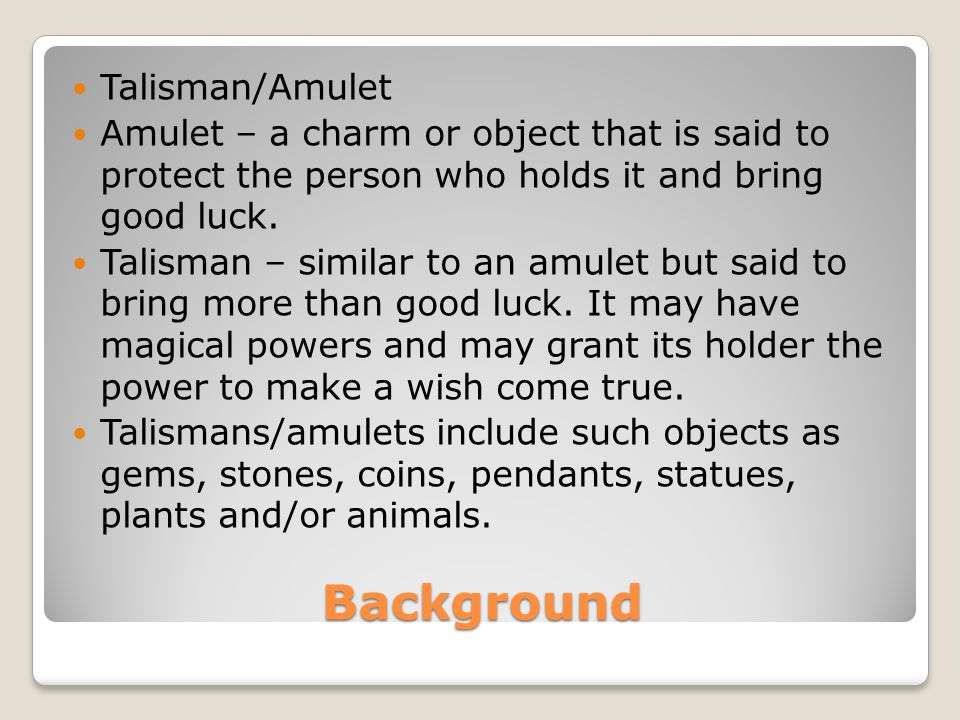 Background Talisman/Amulet