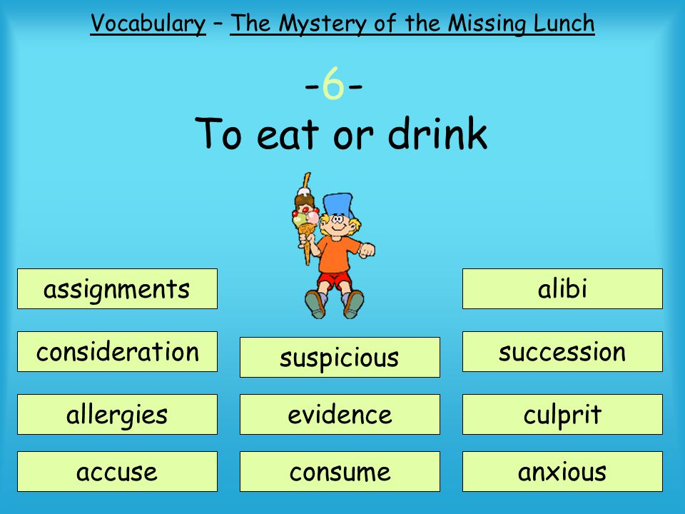 Vocabulary – The Mystery of the Missing Lunch