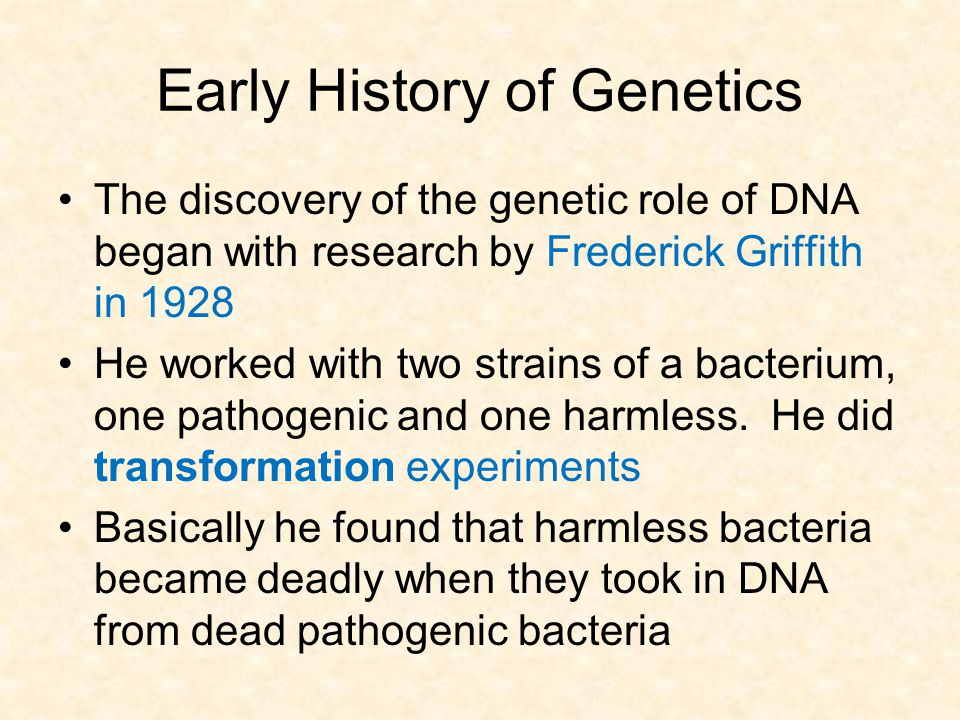 Early History of Genetics