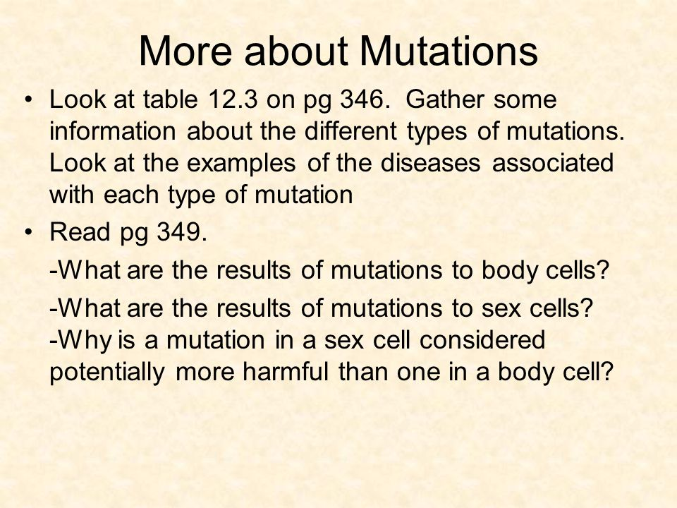 More about Mutations