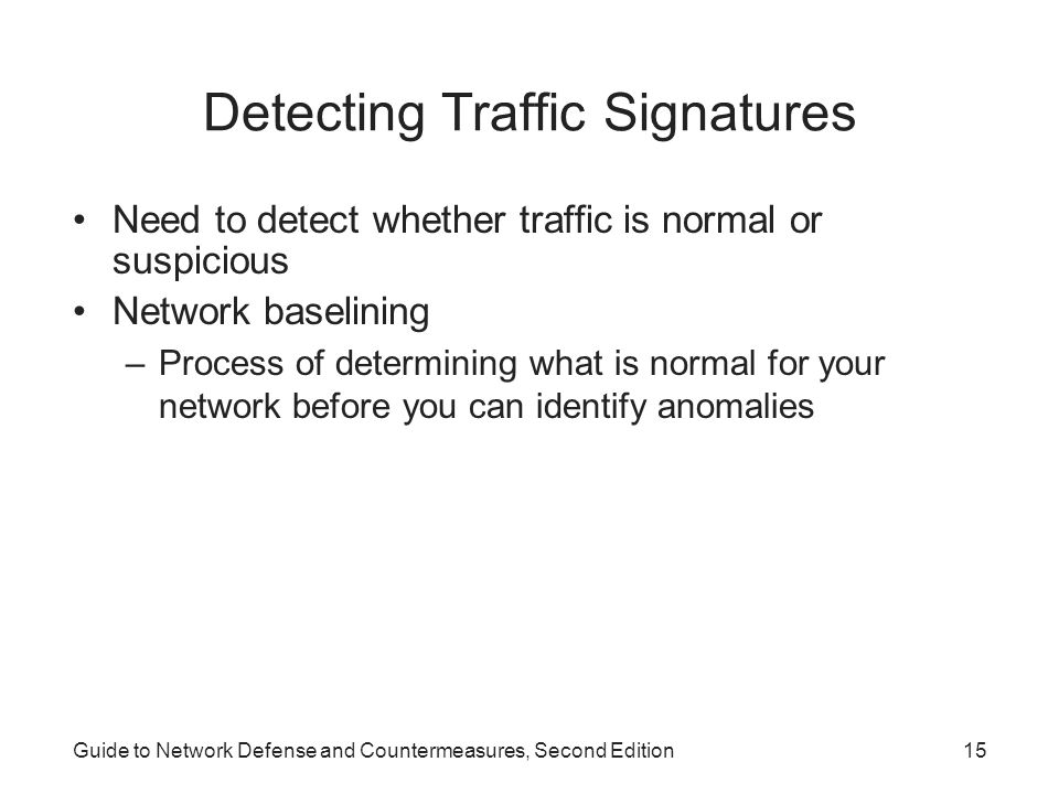 Detecting Traffic Signatures